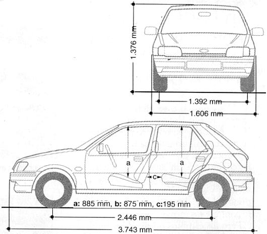 especificaciones sobre ford escort lx